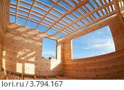 Строительство нового деревянного дома. Фишай. Стоковое фото, фотограф FotograFF / Фотобанк Лори