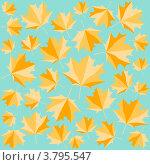Купить «Бесшовный фон с осенними листьями», иллюстрация № 3795547 (c) Евгения Малахова / Фотобанк Лори