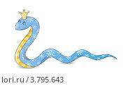 Купить «Змея в короне - символ года по Восточному календарю», иллюстрация № 3795643 (c) Евгения Малахова / Фотобанк Лори