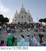 Купить «Париж. Базилика Сакре-Кер», фото № 3795963, снято 17 июня 2012 г. (c) Виктор Тараканов / Фотобанк Лори