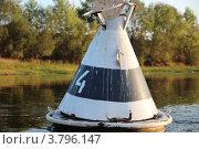 Бакен на реке Уфимка. Стоковое фото, фотограф Mikhail Erguine / Фотобанк Лори