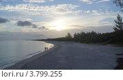 Закатный пляж на Кубе. Стоковое фото, фотограф Игорь Петрунин / Фотобанк Лори