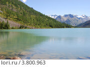 Купить «Среднее Мультинское озеро», фото № 3800963, снято 13 августа 2008 г. (c) Анна Омельченко / Фотобанк Лори