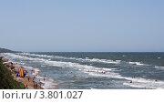 Поселок Кучугуры Краснодарского края, пляж (2012 год). Стоковое фото, фотограф Полищук Евгений / Фотобанк Лори