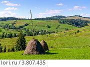 Карпаты, горный пейзаж. Стоковое фото, фотограф Владимир Фалин / Фотобанк Лори