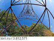 Купить «Геодезический знак. Вид изнутри. Фишай», фото № 3812571, снято 26 июля 2012 г. (c) FotograFF / Фотобанк Лори
