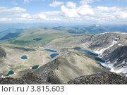Купить «Вид с горы Колбан. Горный Алтай», фото № 3815603, снято 13 июля 2009 г. (c) Анна Омельченко / Фотобанк Лори
