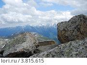 Купить «Вид с горы Колбан. Горный Алтай», фото № 3815615, снято 13 июля 2009 г. (c) Анна Омельченко / Фотобанк Лори