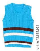 Купить «Детская одежда. Пуловер без рукавов изолировано на белом фоне», фото № 3815951, снято 6 сентября 2012 г. (c) Руслан Кудрин / Фотобанк Лори