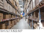 Купить «Склад в магазине», фото № 3822027, снято 8 сентября 2012 г. (c) Кекяляйнен Андрей / Фотобанк Лори