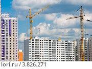 Купить «Строительство современного жилого дома», фото № 3826271, снято 25 июня 2012 г. (c) Володина Ольга / Фотобанк Лори