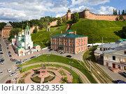 Купить «Площадь Народного единства в Нижнем Новгороде», фото № 3829355, снято 4 июня 2012 г. (c) Igor Lijashkov / Фотобанк Лори