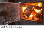 Купить «Дрова горят в печи», фото № 3830667, снято 24 июля 2012 г. (c) FotograFF / Фотобанк Лори