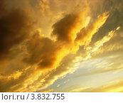 """Купить «""""Пожар"""" в небе. Облака на закате», фото № 3832755, снято 20 августа 2012 г. (c) Светлана Ильева (Иванова) / Фотобанк Лори"""
