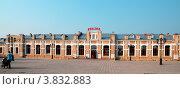Купить «Город Ишим. Здание железнодорожного вокзала, 1912 год постройки», фото № 3832883, снято 30 июня 2012 г. (c) Александр Тараканов / Фотобанк Лори