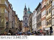 Одна из улиц Праги (2012 год). Редакционное фото, фотограф Елена Конькова / Фотобанк Лори