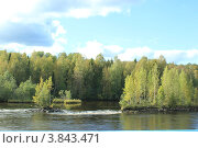 Осенний берег Свири. Стоковое фото, фотограф Валерий Никитин / Фотобанк Лори