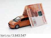 Автомобиль под пятитысячной купюрой. Стоковое фото, фотограф Игорь Белов / Фотобанк Лори