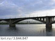 Красноярск, Коммунальный мост (2012 год). Стоковое фото, фотограф Евгений Можаровский / Фотобанк Лори