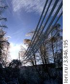Купить «Оледенение электропроводов», фото № 3846195, снято 7 января 2011 г. (c) Вита Лукина / Фотобанк Лори