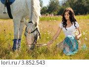 Девушка с лошадью. Стоковое фото, фотограф Игорь Долгов / Фотобанк Лори