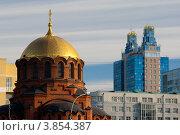 Купить «Новосибирск. Собор во имя Александра Невского», фото № 3854387, снято 11 сентября 2012 г. (c) Matwey / Фотобанк Лори