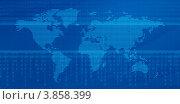Купить «Карта мира на синем фоне», иллюстрация № 3858399 (c) Александр Лычагин / Фотобанк Лори
