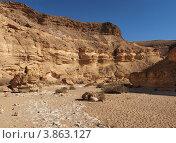 Каньон в пустыне. Стоковое фото, фотограф Shlomo Polonsky / Фотобанк Лори