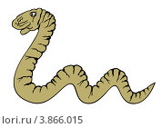 Купить «Ползущая змея», иллюстрация № 3866015 (c) Валентина Шибеко / Фотобанк Лори