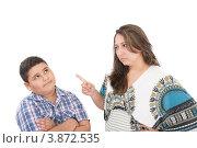 Купить «Мама ругает сына», фото № 3872535, снято 8 сентября 2012 г. (c) David Castillo Dominici / Фотобанк Лори