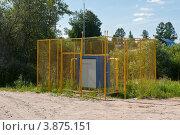 Распределительная газовая подстанция на окраине города Тосно (2012 год). Стоковое фото, фотограф Андрей Небукин / Фотобанк Лори