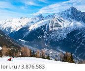 Горные лыжи в французских Альпах (2009 год). Стоковое фото, фотограф Виктор Андреев / Фотобанк Лори