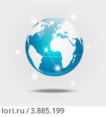 Купить «Планета Земля - концепция глобальных коммуникаций», иллюстрация № 3885199 (c) Евгения Малахова / Фотобанк Лори