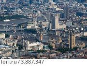 Купить «Центр Лондона, вид с высоты птичьего полета», фото № 3887347, снято 20 сентября 2009 г. (c) Василий Фирсов / Фотобанк Лори