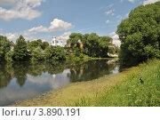 Купить «Летний пейзаж, пруд, заросший ряской», эксклюзивное фото № 3890191, снято 25 июня 2012 г. (c) lana1501 / Фотобанк Лори