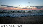 Купить «Морской закат», видеоролик № 3891979, снято 16 июля 2012 г. (c) Сергей Черных / Фотобанк Лори