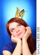 Девушка представляет себя принцессой. Стоковое фото, фотограф Антон Журавков / Фотобанк Лори
