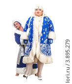 Купить «Мужчины в новогодних костюмах», фото № 3895279, снято 23 сентября 2012 г. (c) Discovod / Фотобанк Лори