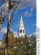 Купить «Никольская церковь в Приволжске, Ивановская область. Осенний пейзаж», фото № 3903887, снято 21 сентября 2012 г. (c) ElenArt / Фотобанк Лори