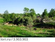 Купить «Приволжск, Ивановская область, домики», фото № 3903903, снято 17 мая 2012 г. (c) ElenArt / Фотобанк Лори
