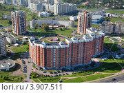 Купить «Вид сверху на район Куркино, Москва, Россия», фото № 3907511, снято 12 сентября 2012 г. (c) Николай Винокуров / Фотобанк Лори