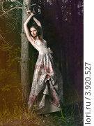 Портрет женщины в сказочном лесу. Стоковое фото, фотограф Boris Bushmin / Фотобанк Лори