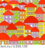 Абстрактный фон из зданий. Стоковая иллюстрация, иллюстратор Silanti / Фотобанк Лори