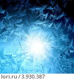 Купить «Зимняя фантазия, морозный узор на стекле», фото № 3930387, снято 25 января 2010 г. (c) ElenArt / Фотобанк Лори