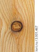 Купить «Сосновая деревянная текстура с сучком», фото № 3931467, снято 15 октября 2012 г. (c) Анна Мартынова / Фотобанк Лори