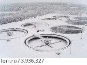 Купить «Станция биологической очистки стоков зимой», фото № 3936327, снято 7 января 2011 г. (c) Кекяляйнен Андрей / Фотобанк Лори