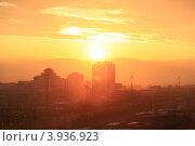 Город Улан-Удэ на закате (2012 год). Стоковое фото, фотограф Юрий Кузнецов / Фотобанк Лори