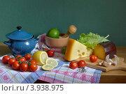 Натюрморт с овощами и сыром. Стоковое фото, фотограф Julia Ovchinnikova / Фотобанк Лори