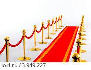 Красная дорожка. Стоковая иллюстрация, иллюстратор Андрей Воскресенский / Фотобанк Лори