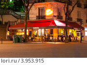 Купить «Уличное кафе ночью. Париж, Франция», фото № 3953915, снято 30 апреля 2012 г. (c) Алексей Ширманов / Фотобанк Лори